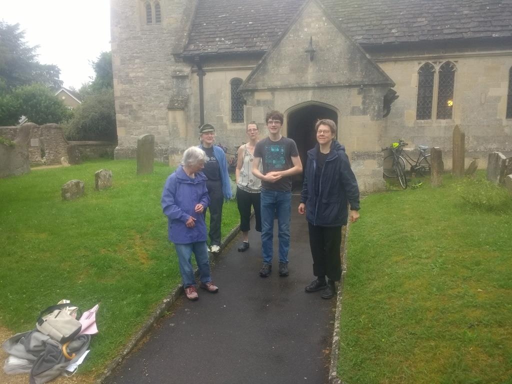 Sun 25th July 2021 Morning Service ringing 1st Quarter Peal since March 2020